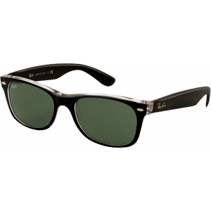 Ray-Ban New Wayfarer Black/Transparent Green Polarized