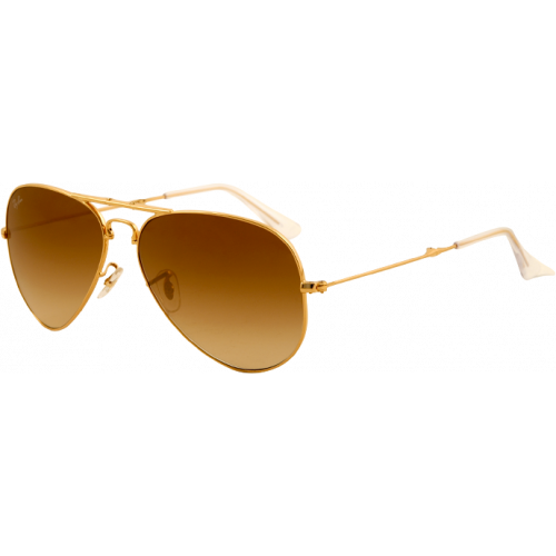 Ray-Ban Aviator Folding Arista Brown Gradient