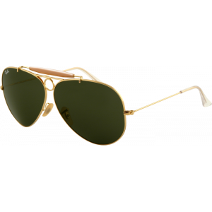 Ray-Ban Aviator Shooter Doré G-15 XLT