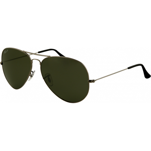 Ray-Ban Aviator Large Gunmetal Green Polarized