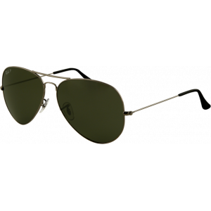 Ray-Ban Aviator Classic Large Gunmetal Green Polarized