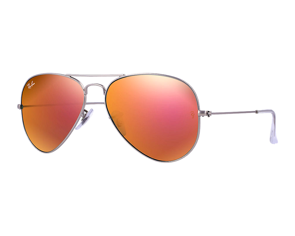 Ray Ban Aviator Flash Argent Brun Rose Miroité EyeShop ae0ac826cee1