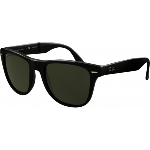 Ray-Ban Wayfarer Folding Shiny Black G-15 XLT