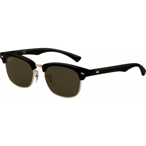 Ray-Ban Clubmaster Junior Shiny Black Grey Green