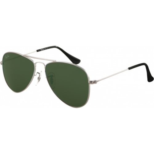 29a7dfe02d Ray-Ban Aviator Junior Shiny Gunmetal Grey Green - Ray-Ban Aviator