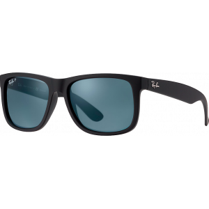 Ray-Ban Justin Rubber Black Dark Blue Polarized