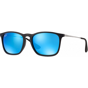 Ray-Ban Chris Black Blue Mirror