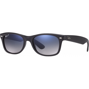 Ray-Ban New Wayfarer Matte Black Polar Blue Gradient