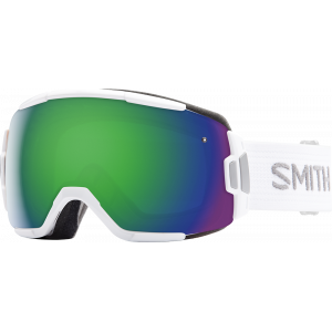 Smith Ski Goggles Vice White Block/Green Sol-X Mirror