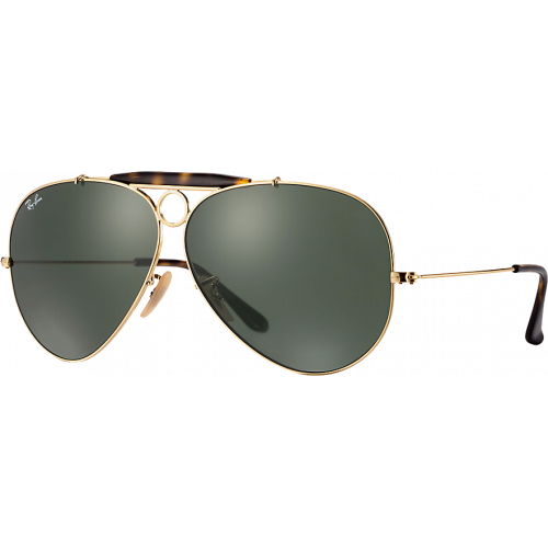 824334875e Ray-Ban Aviator Shooter Gold Havana G-15 XLT - Ray-Ban Aviator
