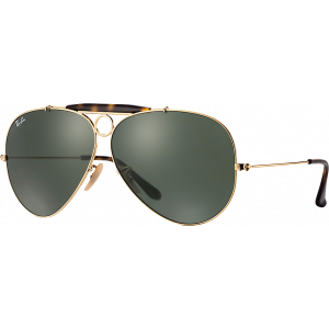 Ray-Ban Aviator Shooter Doré/Ecaille G-15 XLT
