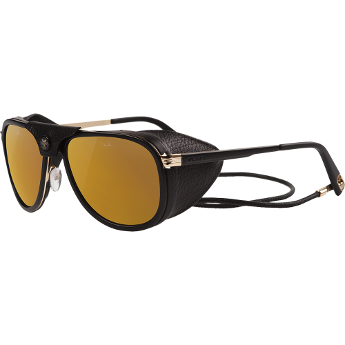 681aa14b565 Vuarnet Glacier Matte Black Gold Pure Brown Bronze Flash - EyeShop