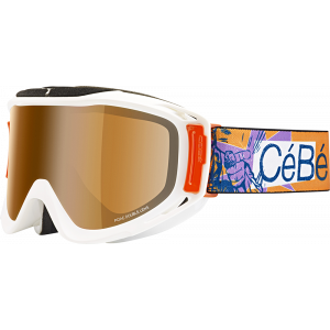 Cebe Masque de ski Legend L Pow/Orange Flash Mirror