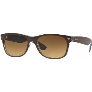 Ray-Ban New Wayfarer Brun Transparent/Bleu Brun Dégradé