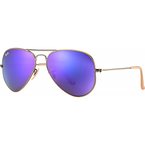 Ray-Ban Aviator Large Flash Cuivre/Violet Miroité