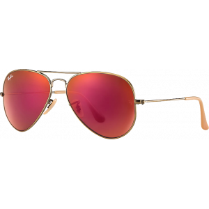 Ray-Ban Aviator Large Flash Cuivre/Rouge Miroité