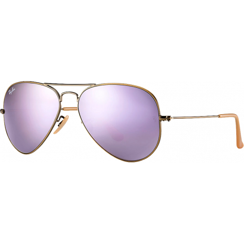 Ray-Ban Aviator Large Flash Cuivre/Lilas Miroité 0RnpJSQUu