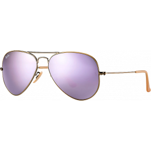 Ray-Ban Aviator Flash Cuivre/Lilas Miroité