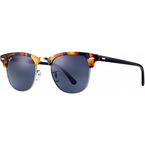 Ray-Ban Clubmaster Spotted Blue Havana/Grey