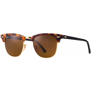 Ray-Ban Clubmaster Fleck Spotted Brown Havana Brun