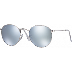 Ray-Ban Round Metal Silver Green Silver Mirror