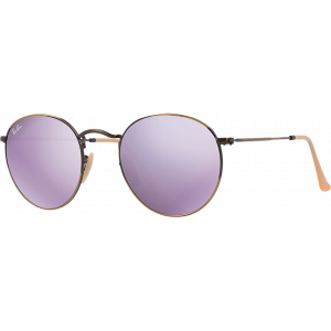Ray-Ban Round Metal Bronze/Lilac Mirror