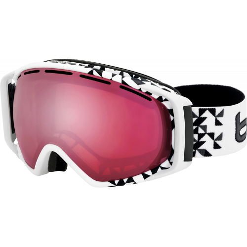 Bolle Masque de ski Gravity White Diagonal/Vermillon Gun
