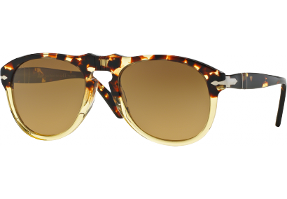 Persol 0649 Medium Vintage Celebration Ebano e Oro Brun Dégradé Polarisé HIXoqgnf0