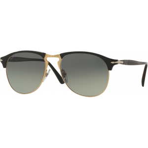 Persol 8649S Black/Gold Grey Gradient