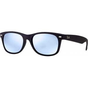 Ray-Ban New Wayfarer Black Rubber Grey Silver Mirror