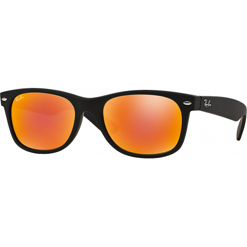 Ray-Ban New Wayfarer Black Rubber Orange Miroité