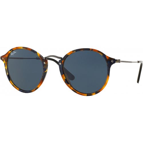 Ray-Ban Round Fleck Medium Spotted Black Havana Gris