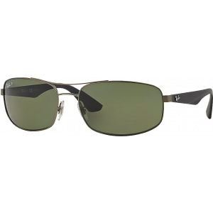 Ray-Ban RB3527 Matte Gunmetal Green Polarized