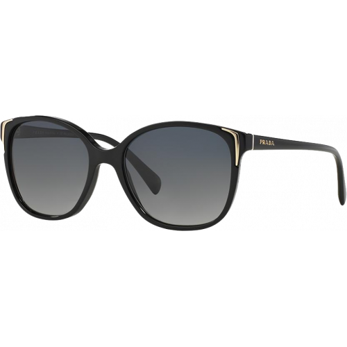 Prada SPR01OS Shiny Black Grey Gradient