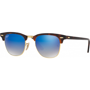 Ray-Ban Clubmaster Shiny Red/Havana Blue Flash Gradient