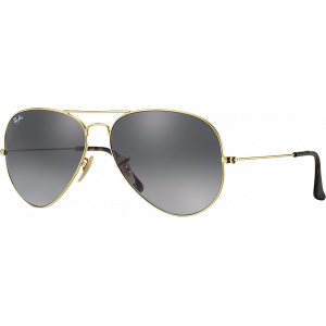 Ray-Ban Aviator Havana Collection Antique Gold Gray Gradient