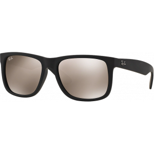Ray-Ban Justin Medium Rubber Black Brun Doré Miroité