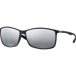 Ray-Ban RB4179 Liteforce Matte Black Grey Mirror Silver Polarized