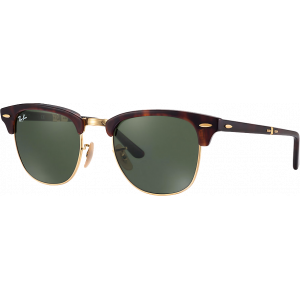 Ray-Ban Clubmaster Pliantes Tabac Rouge G-15 XLT