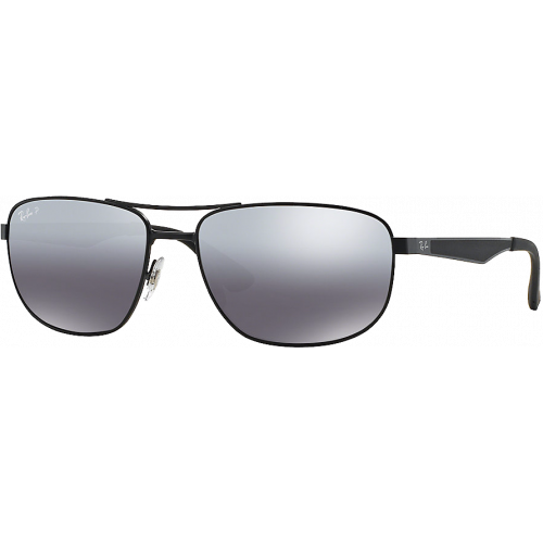 b82254ed7f Ray-Ban RB3528 Matte Black Grey Mirror Silver Polarized - Ray-Ban Active