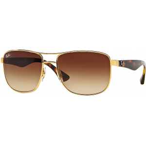 Ray-Ban RB3533 Gold Brown Gradient