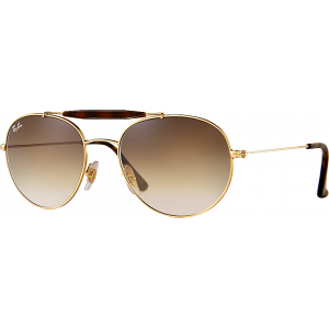 Ray-Ban RB3540 Medium Doré/Ecaille Brun Dégradé
