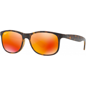 Ray-Ban Andy Shiny Havana Brown Mirror Orange Polarized