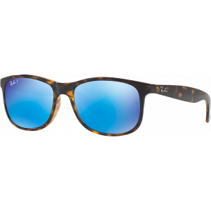 Ray-Ban Andy Shiny Havana Green Mirror Blue Polarized