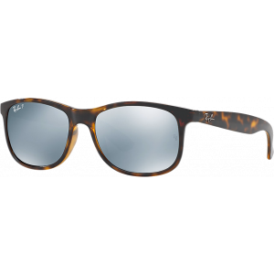 Ray-Ban Andy Shiny Havana Green Mirror Silver Polarized