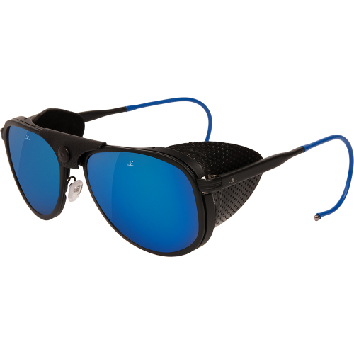 7c3f782bafe4a Vuarnet Glacier 1957 Limited Edition Matte Black Blue Pure Grey Blue Flash  - Sport Sunglasses