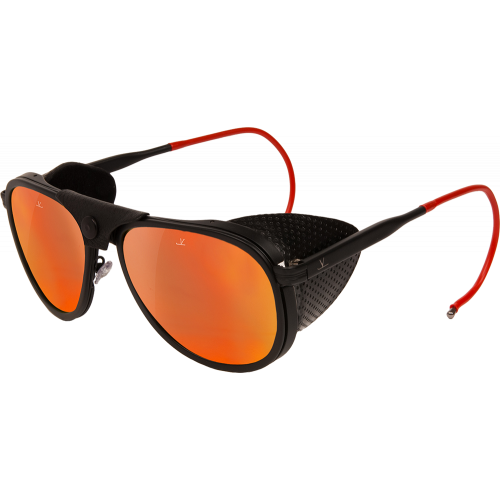 756fea30843 Vuarnet Glacier 1957 Limited Edition Matte Black Red Pure Grey Red Flash -  Sport Sunglasses