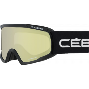 Cebe Masque de ski OTG Fanatic L Noir Yellow Flash Mirror
