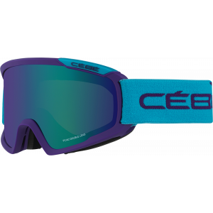 Cebe Masque de ski OTG Fanatic M Violet/Bleu Brown Flash Blue