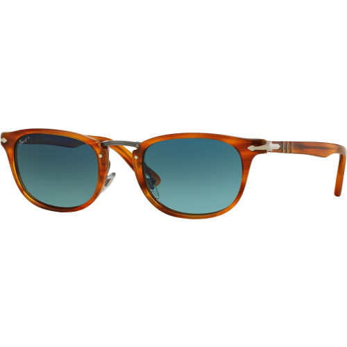 23946f44a441a Persol 3127S Typewriter Edition Striped Havana Blue Gradient Polarized - Persol  Typewriter Edition